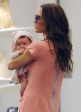 Victoria Beckham and her baby daughter Harper set out on a shopping spree together in NYC in September 2011.