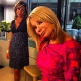 Hoda Kotb and Kathie Lee Gifford stuck a pose on the set of Today Show.  Source: Instagram user todayshow