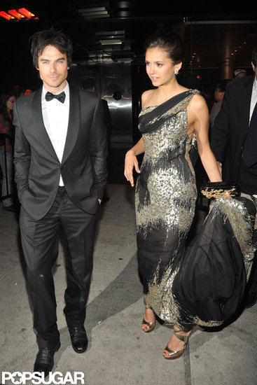 Nina Dobrev and Ian Somerhalder were side by side to attend the Met Gala after party.