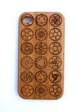Bamboo Bicycle Chain Ring Motif iPhone Case ($29)