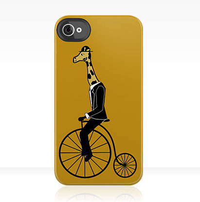 Penny-Farthing Giraffe iPhone Case ($35)