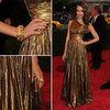 Pictures of Jessica Alba in Bronze One Shouldered Michael Kors Gown on the Red Carpet at the 2012 Met Costume Institue Gala