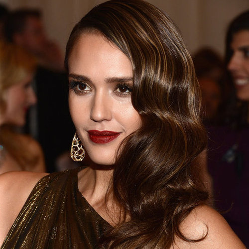 Jessica Alba Does 1940s Beauty at the 2012 Met Costume Institute Gala