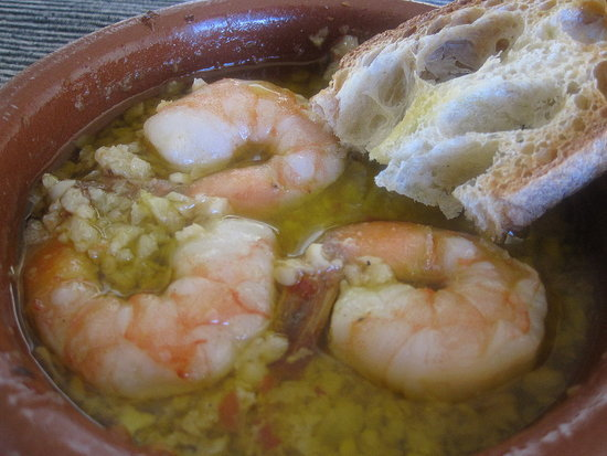 Garlic-Simmered Shrimp