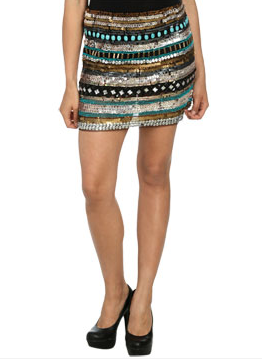 Arden B Multi Beaded Miniskirt ($89)