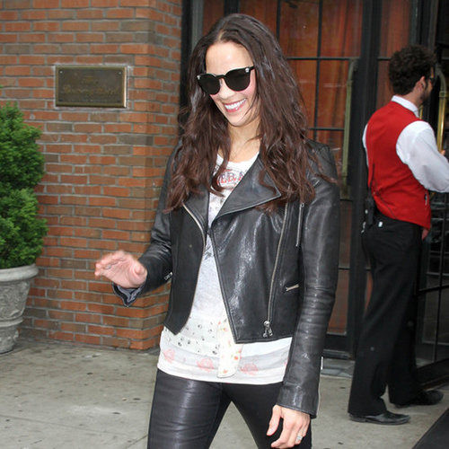 Paula Patton Leather Pants Leather Jacket