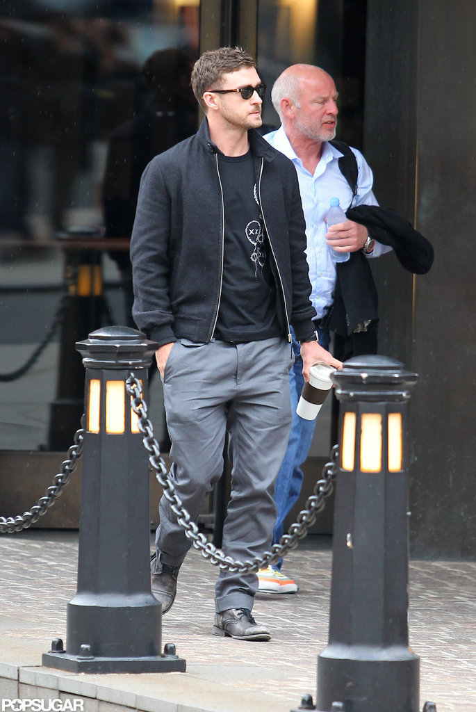 Justin Timberlake left his NYC hotel.