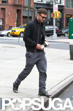 Justin Timberlake went for a stroll with his coffee in NYC.