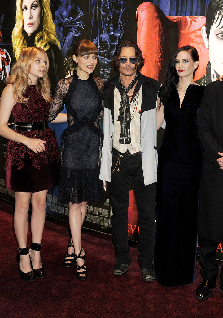 Johnny Depp grabbed a photo with some of his lovely castmates.