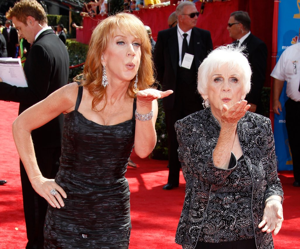 Kathy Griffin and her mom, Maggie, struck a pose together on the red carpet in August 2010.