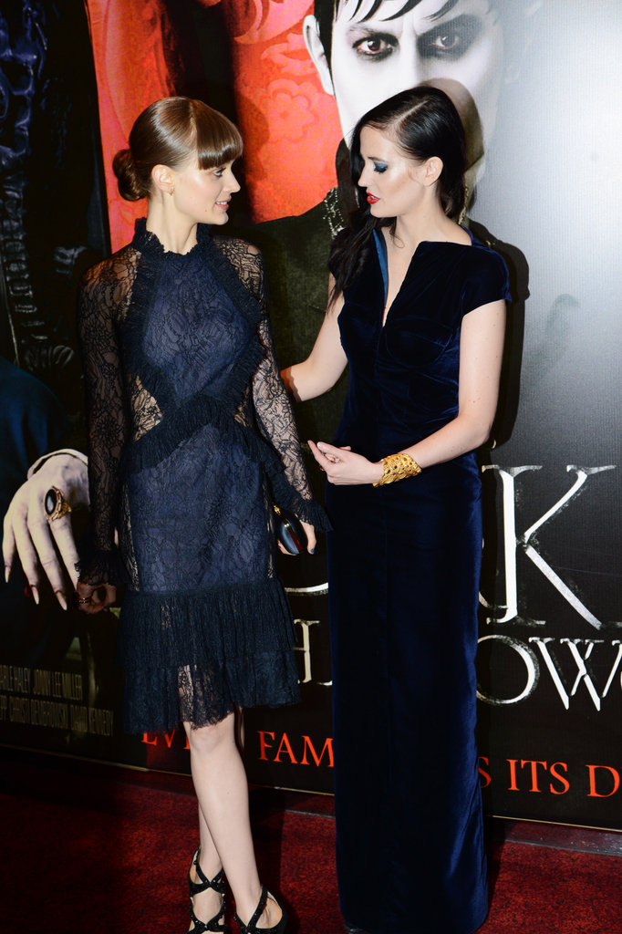 Eva Green chatted with Bella Heathcote while the press took photos.