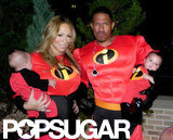 Mariah Carey dressed up for Halloween with husband Nick Cannon and their twins, Monroe and Moroccan, in LA in October 2011.