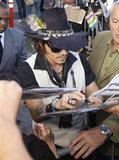 Johnny Depp was fan-friendly at the Jimmy Kimmel Live studios.