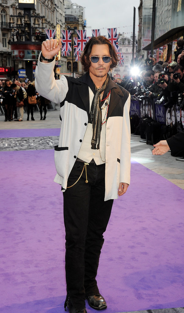 Johnny Depp arrived at the Empire Leicester Square in London for the Dark Shadows premiere.