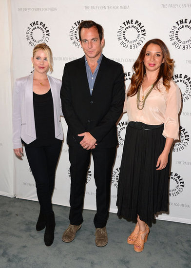 Will Arnett was flanked by Maya Rudolph and Christina Applegate.