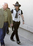 Johnny Depp went to the Jimmy Kimmel Live studios.