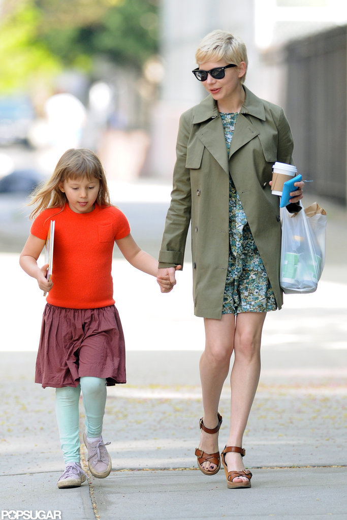 Michelle Williams and her little girl, Matilda Rose Ledger, took a coffee and shopping trip in NYC in April 2012.