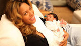 Beyoncé Knowles shared the first photo of baby Blue Carter on her personal Tumblr page in February 2012. Source: Beyoncé on Tumblr