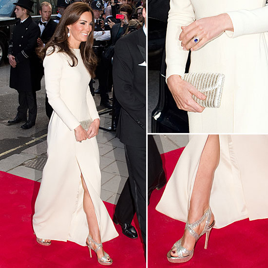 Kate Middleton White Slit Dress Roland Mouret
