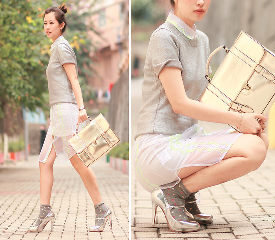 These mercurial hues give this retro-infused style a dose of cool modernity.  Photo courtesy of Lookbook.nu