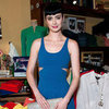 Krysten Ritter Blue Cutout Dress