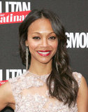 Zoe Saldana stepped onto the red carpet to celebrate the launch of Cosmopolitan for Latinas in NYC.
