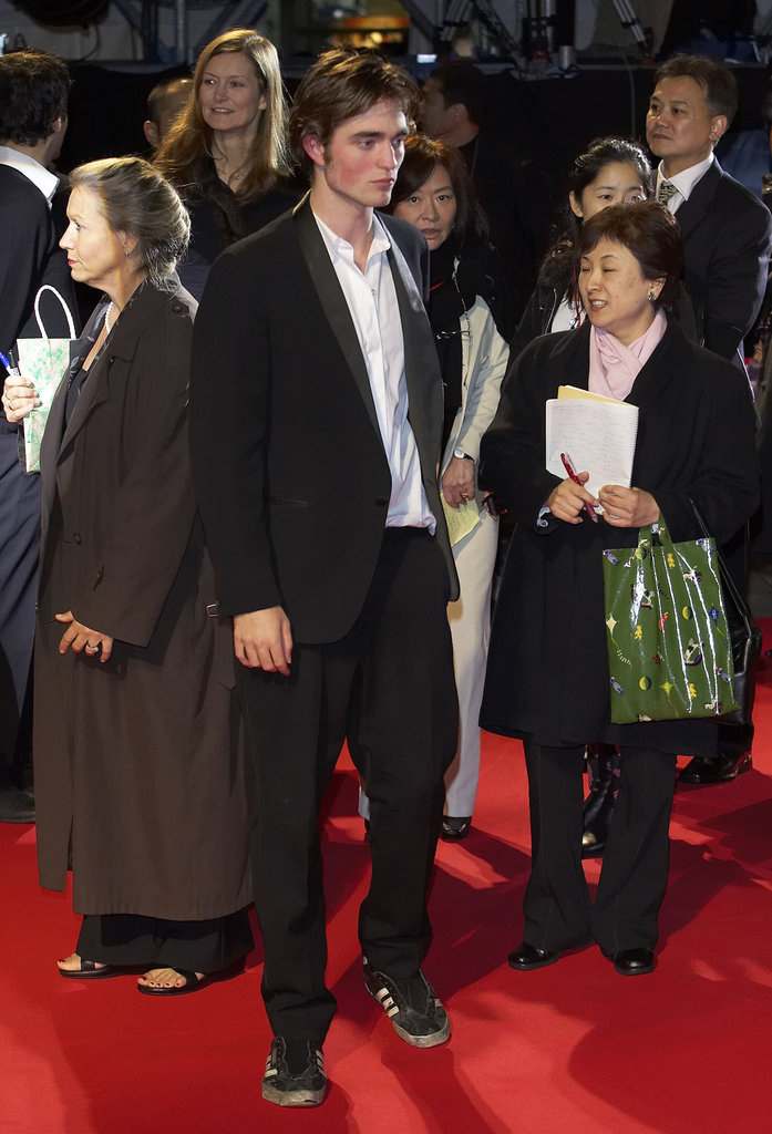 Robert Pattinson suited up for a Harry Potter and the Goblet of Fire premiere in November 2005.