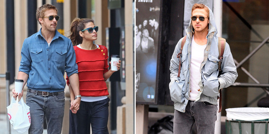 Ryan Gosling and Eva Mendes Are Loved Up For an NYC Lunch