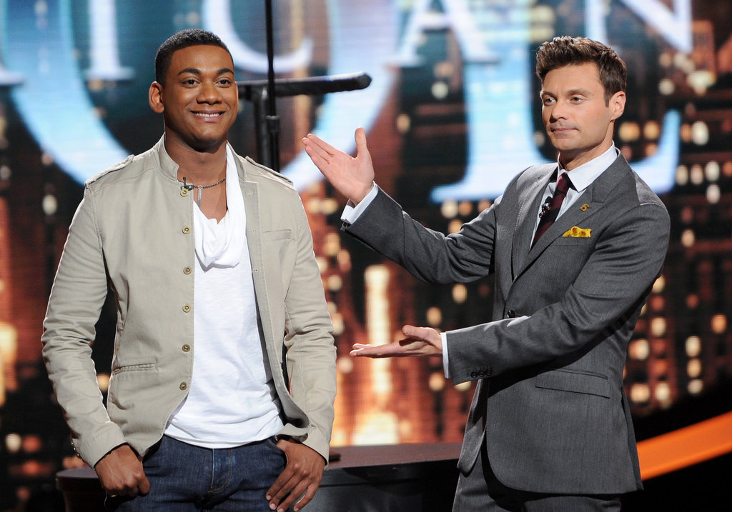 Joshua Ledet got an introduction from Ryan Seacrest.