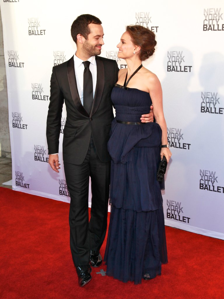 Natalie Portman and Benjamin Millepied shared a moment at New York City Ballet's 2012 Spring Gala.