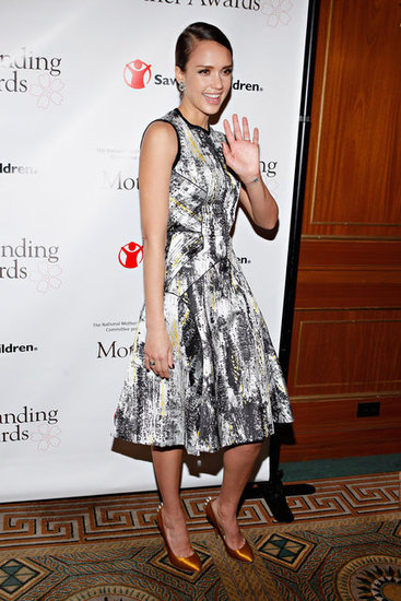 Jessica Alba went to the Outstanding Mother Awards in NYC.