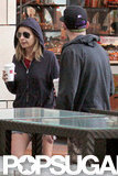 Nicole Richie and Joel Madden grabbed coffees while out in Sydney.