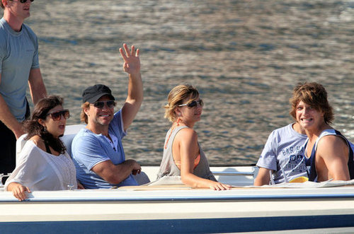 Jon Bon Jovi waved to the shore during his August 2011 visit to Croatia.