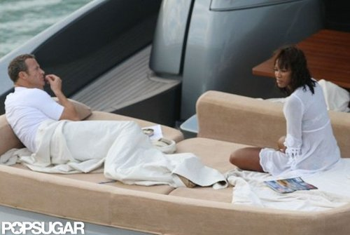 Naomi Campbell and Vladislav Doronin lounged on the back of their boat in December 2011 off the coast of Miami.
