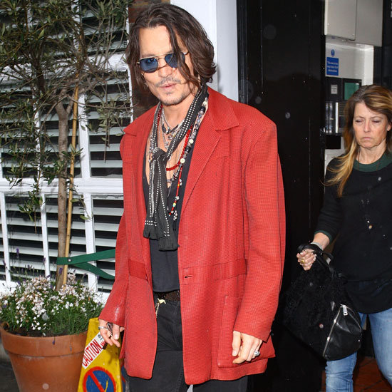 Johnny Depp left Claridge's hotel in London.