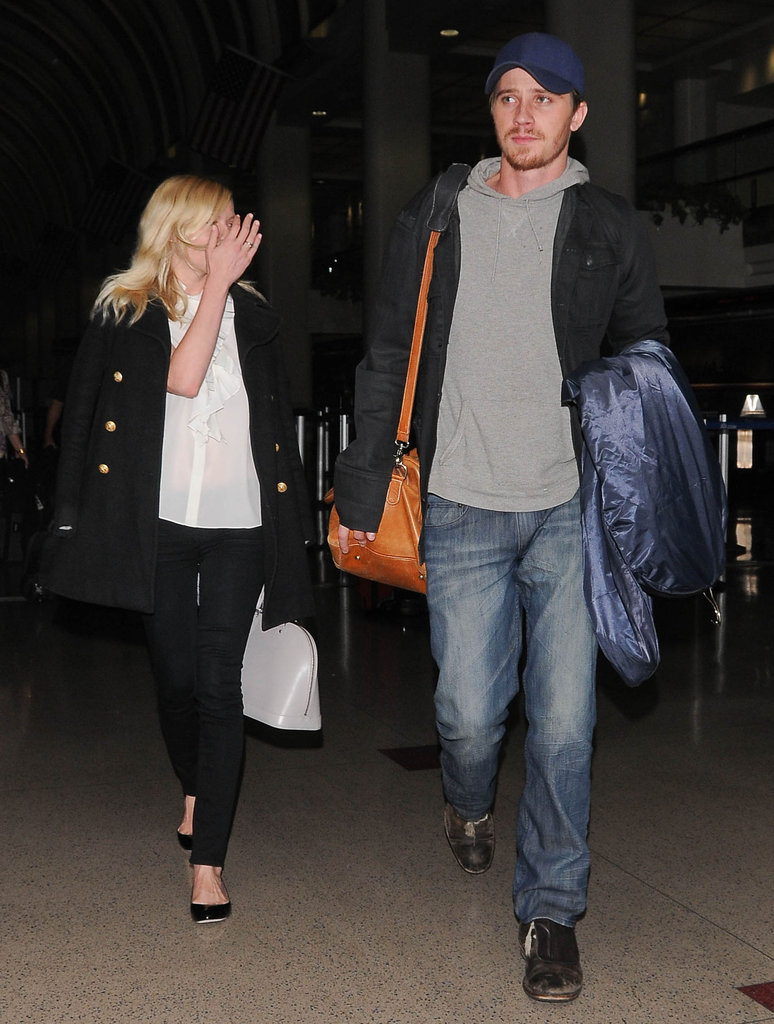 Kirsten Dunst and Garrett Hedlund arrived at LA.