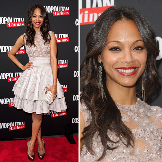 "Zoe Saldana on Her Style Guru, Not Being a ""Pink Girl"", and More at the Cosmo Latinas Launch"