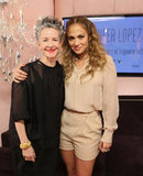 Jennifer Lopez posed for a photo with Coty's Catherine Walsh.