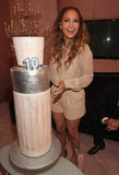Coty presented Jennifer Lopez with a cake to celebrate her 10 years with the brand.