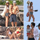 Bikini-Clad Miranda Kerr Continues Her Bora Bora Vacation With the Bloom Boys