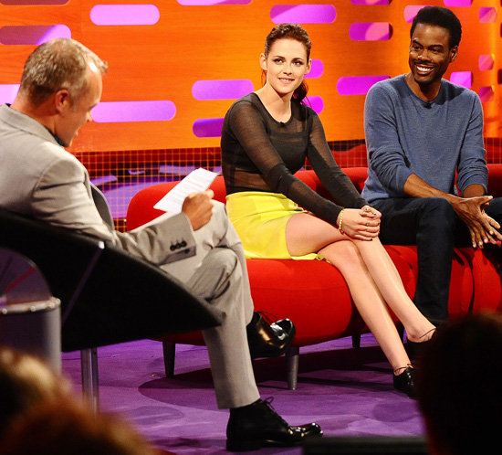 Kristen Stewart Goes Sheer to Talk SWATH on Graham Norton