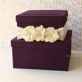 Purple Tiered Wedding Card Box