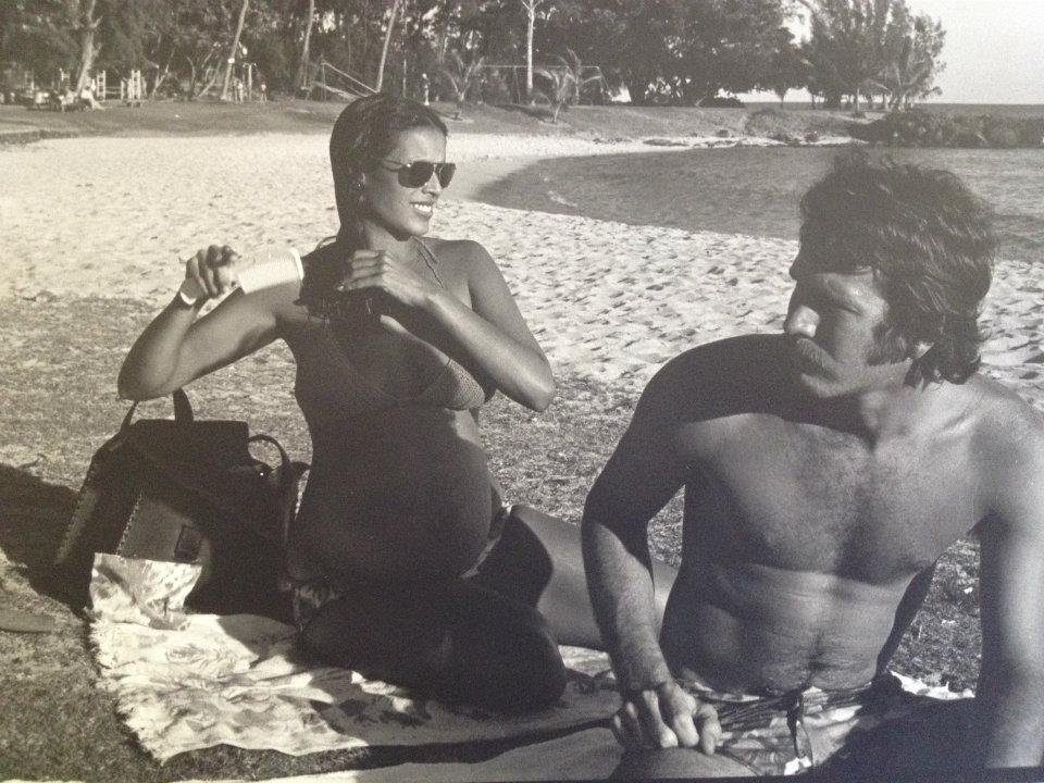 What a classic cool-girl shot! Entertainment associate editor and reporter Shannon Vestal's mom (pregnant here with Shannon's older sister and rocking a crochet bikini) looked gorgeous as she hung out in Kauai with Shannon's dad.