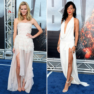 Brooklyn Decker and Rihanna at Battleship Premiere LA