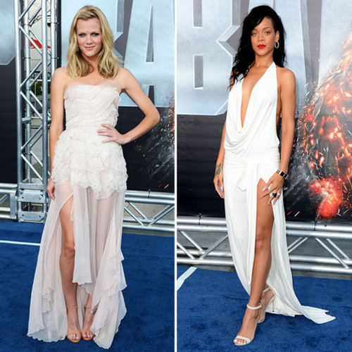 Brooklyn Decker And Rihanna Both Wore White Gowns To The LA Premiere Of Battleship But Who Wore It Best?