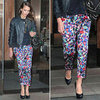 Jessica Alba Printed Pants New York May 2012