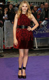 Chloe Moretz looked utterly femme in McQ Alexander McQueen for the Dark Shadows London premiere.
