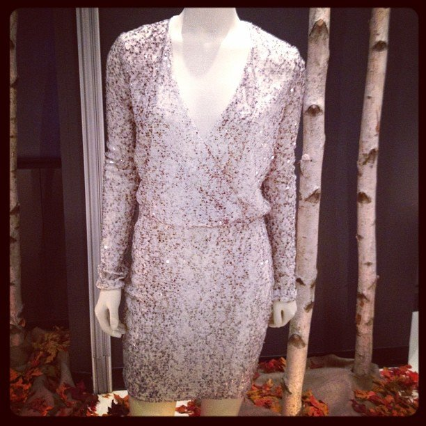 We spotted this shimmery little dress at Victoria's Secret's Fall preview.