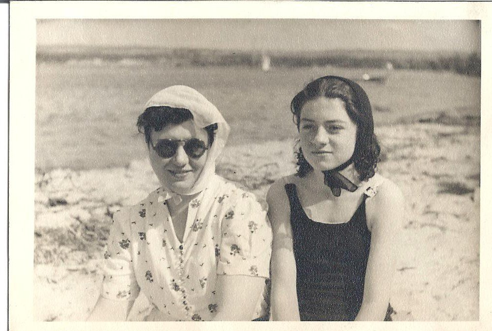 Beauty editor Jaime Richards unearthed this photo of her grandmother Joan and great-grandmother Mary at the beach in the 1930s — amazing!