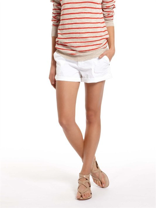 These white cuffed shorts are perfect for the office or vacation.  DKNY Jeans Poplin Short ($39)